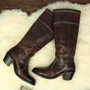 Frye Jane Brown Leather Boots